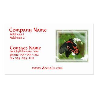 Tropische rote Schmetterlings-Visitenkarte