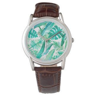 Tropische Safari-Uhr durch Megaflora Entwurf Armbanduhr