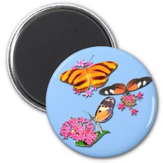 Tropische Schmetterlinge Runder Magnet 5,1 Cm