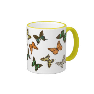 tropische Schmetterlinge Ringer Tasse