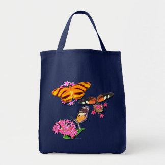Tropische Schmetterlinge Leinentasche