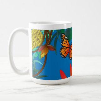 tropische Schmetterlings-Tasse