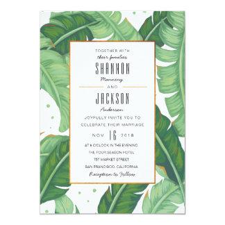 Tropische Sommer-Hochzeits-Einladung Karte