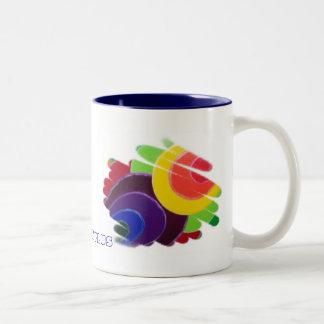 Tropische Spiralen plus Tee-Tasse Zweifarbige Tasse