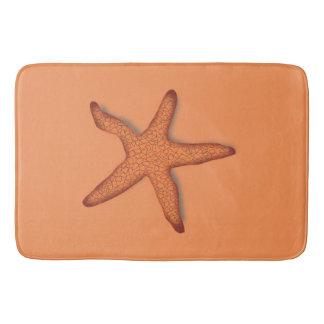 Tropische Starfish-Orange Badematte
