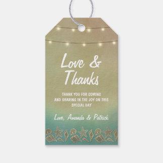 Tropische Starfish +Seashell-Hochzeit danken Ihnen Geschenkanhänger