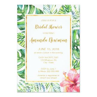 Tropische Strand-Brautparty-Einladung Karte