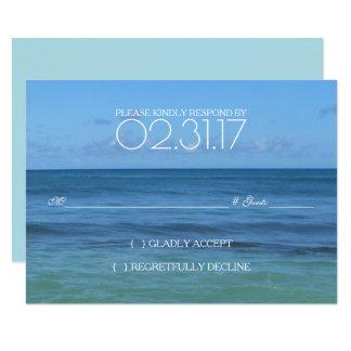 Tropische Strand-Hochzeit UAWG-KARTE 8,9 X 12,7 Cm Einladungskarte