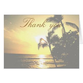 Tropische Strand-Küstenlinie danken Ihnen Karte