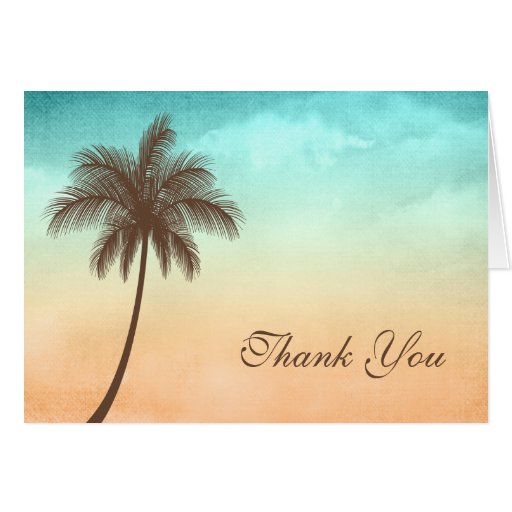 Tropische Strand-Palme danken Ihnen Karte