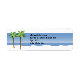 Tropische Strand-Palmen und Ozean personalisiert