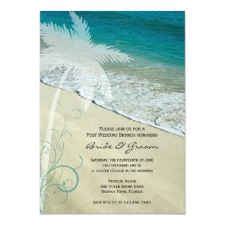 Tropische Strand-Posten-Hochzeits-Brunch-Einladung 12,7 X 17,8 Cm Einladungskarte