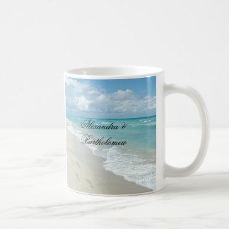 Tropische Strand-Szenen-personalisiertes Andenken Kaffeetasse