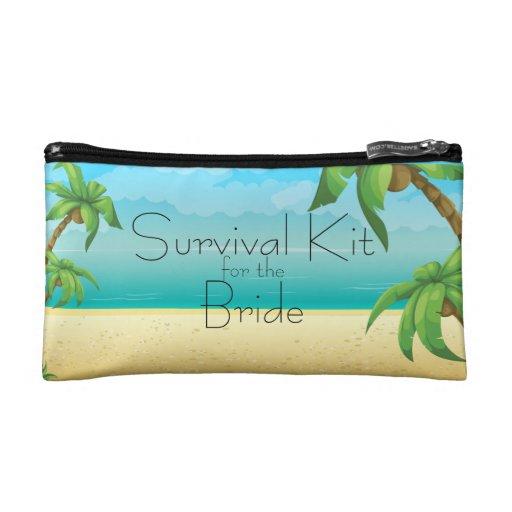 Tropische Strand-und Palme-Überlebensausrüstung