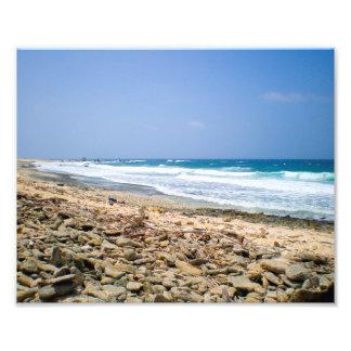 Tropische Strandlandschaftskunst, Grafik des Fotodruck