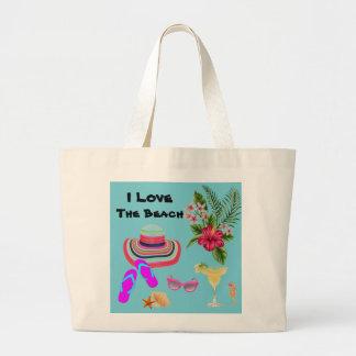 Tropische Strandtasche der großen Tasche