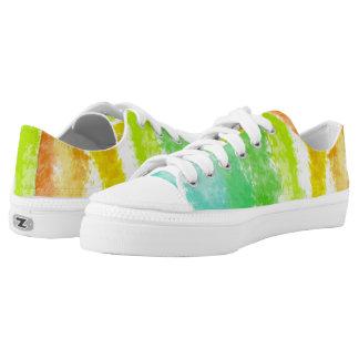 Tropische Streifen ZipZ Tennis-Schuhe Niedrig-geschnittene Sneaker