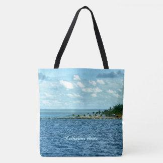 Tropische Szene personalisiert Tasche