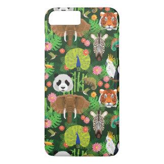 Tropische Tiermischung iPhone 8 Plus/7 Plus Hülle