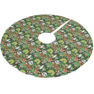 Tropische Tiermischung Polyester Weihnachtsbaumdecke