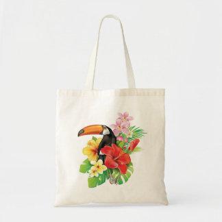 Tropische Toucan Collagen-Budget-Taschen-Tasche