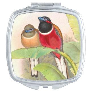 Tropische Trogan Vogel-Tier-Tiere Taschenspiegel