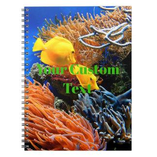 Tropische unterseeische Koralle Spiral Notizblock