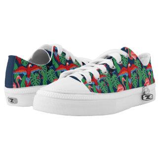 Tropische Vögel in den hellen Farben Niedrig-geschnittene Sneaker