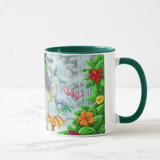 Tropische Wasserfall-Drache-Tasse Tasse