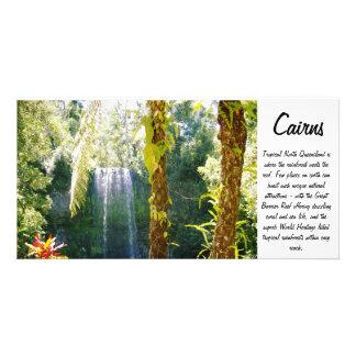tropische Wasserfall-Fotokarte Photogrußkarten