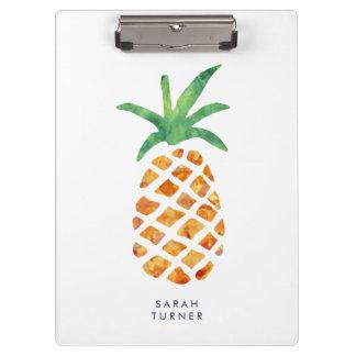 Tropische Watercolor-Ananas personalisiert