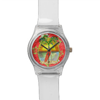 Tropische Weihnachtspalme Armbanduhr