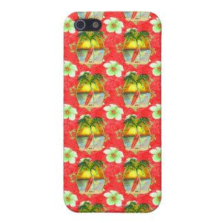 Tropische Weihnachtspalme iPhone 5 Case