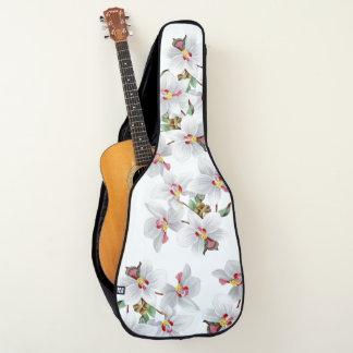 Tropische weiße Orchideen-Blumen-weicher Gitarrentasche