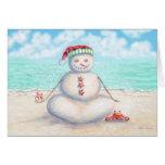 Tropische Yoga-Weihnachtskarte Grußkarte
