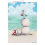 Tropische Yoga-Weihnachtskarte Grußkarten