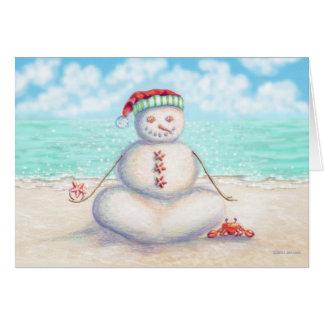 Tropische Yoga-Weihnachtskarte Karte
