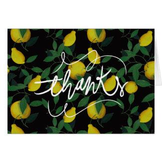 Tropische Zitrone Karte