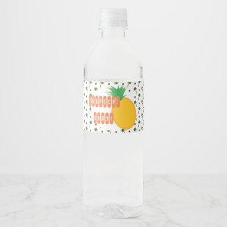 Tropischer Ananas-Babypartyaufkleber Wasserflaschenetikett