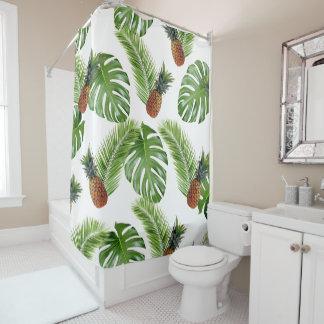 Tropischer Ananas-Duschvorhang Duschvorhang