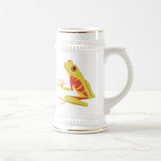 Tropischer Baum-Frosch Bierglas