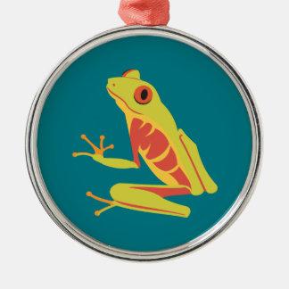 Tropischer Baum-Frosch Silbernes Ornament