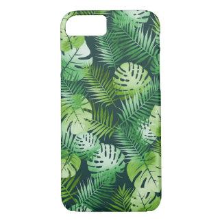 Tropischer Blättertelefonkasten iPhone 8/7 Hülle