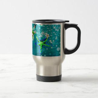 Tropischer Bliss Blume der Neonstarfish Reisebecher