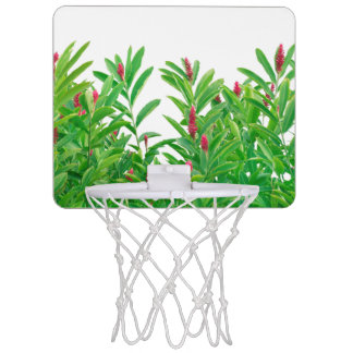 Tropischer Blumendruck Mini Basketball Ring