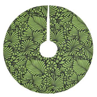 Tropischer Damast-Muster-Strand-Feiertag Polyester Weihnachtsbaumdecke