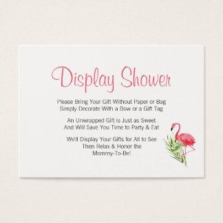 Tropischer Flamingo-Anzeigen-Babyparty-Einsatz Visitenkarte