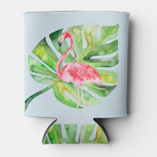 Tropical Flamingo Bachelorette Can Cooler Koozie