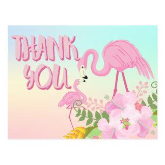 Tropischer Flamingo danken Ihnen