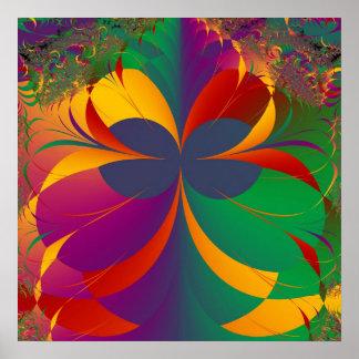 Tropischer Fraktal-Schmetterling Poster